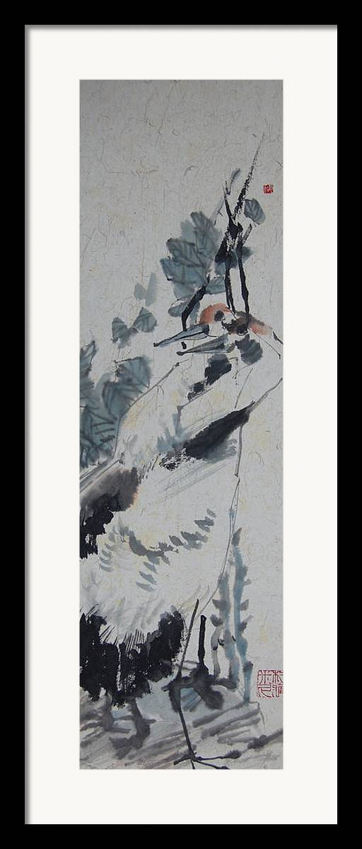 Love Framed Print featuring the painting Entwine by Jayamini De Silva