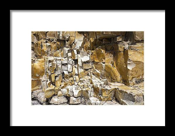 Crumbling Marlstone Framed Print featuring the photograph Erosion Of Marlstone by Dirk Wiersma