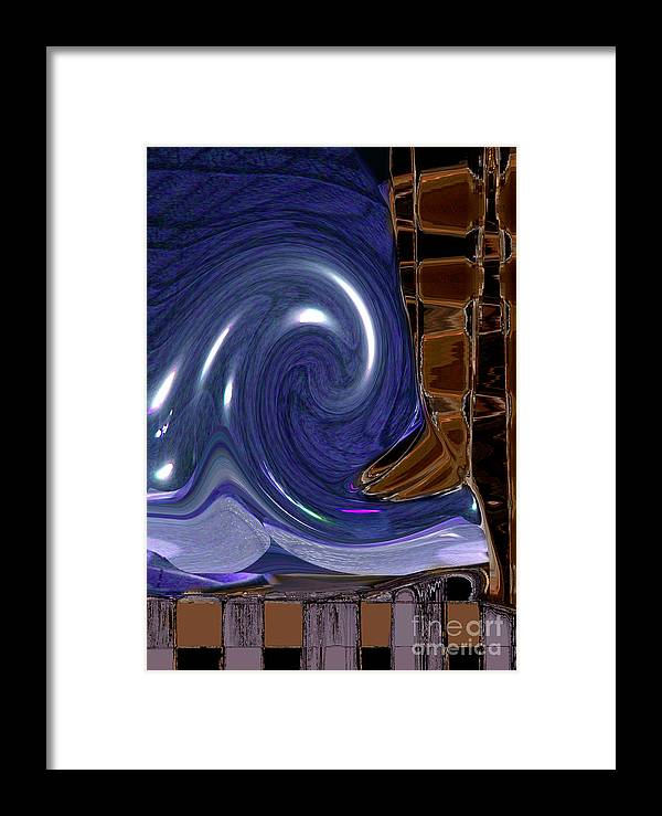 Erosion Framed Print featuring the digital art Erosion by Tom Hubbard