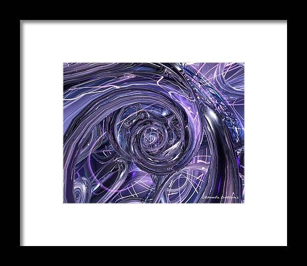 Canvas Framed Print featuring the digital art Eternal Depth Of Abstract Fx by G Adam Orosco