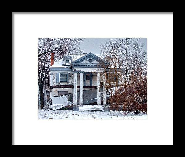 Abandoned Framed Print featuring the photograph Euclid Avenue Mansion by MB Matthews