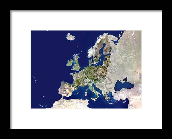 European Union Framed Print featuring the photograph European Union by Planetobserver