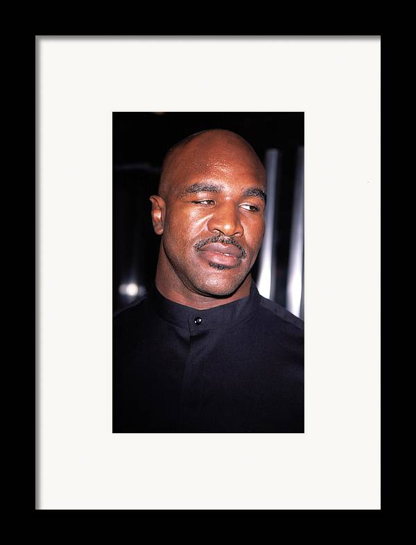 Boxer Framed Print featuring the photograph Evander Holyfield At Premier Of In Too by Everett