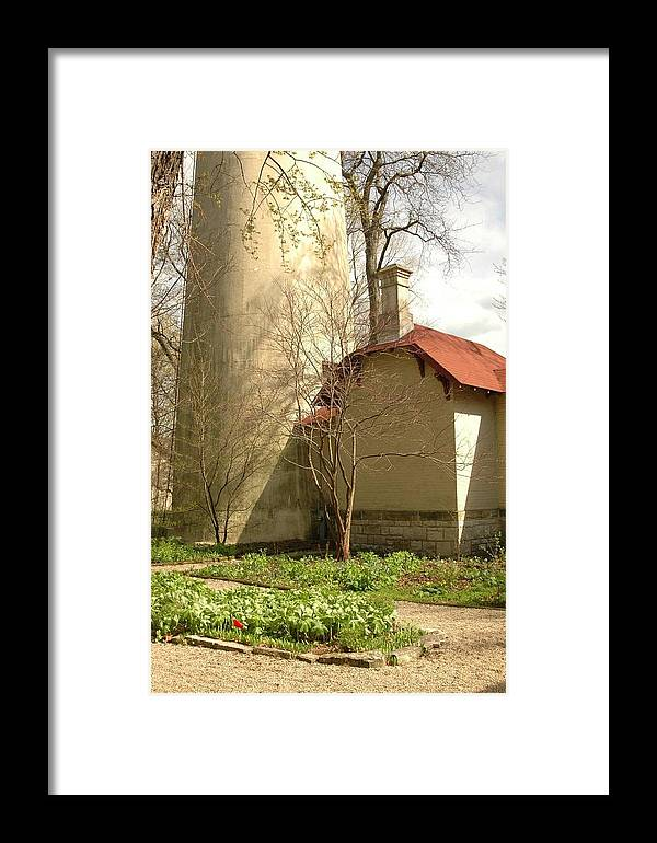 Evanston Illinois Framed Print featuring the photograph Evanston Illinois Lighthouse In Spring by Jennifer Holcombe