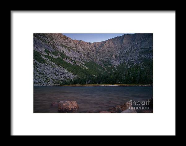 Evening Framed Print featuring the photograph Evening At Chimney Pond by Alana Ranney