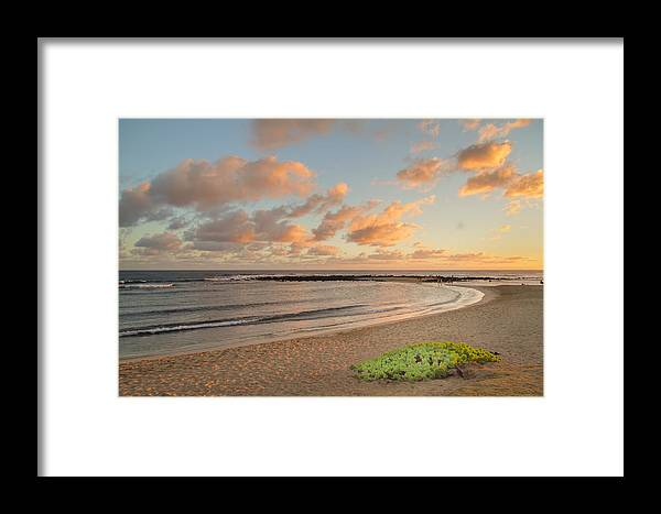 Beach Framed Print featuring the photograph Evening Rays by Roger Mullenhour