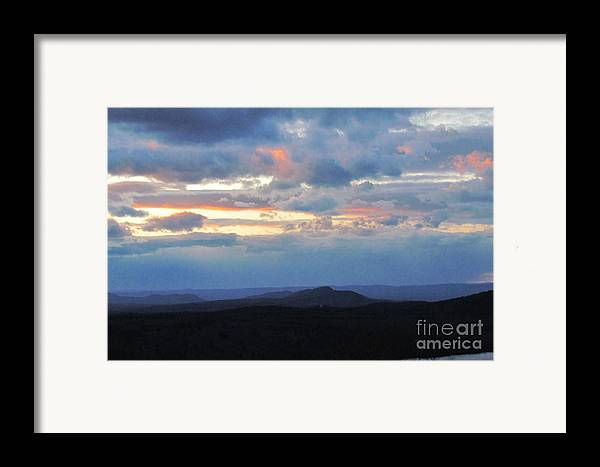 Sunset Framed Print featuring the photograph Evening Sky Over The Quabbin by Randi Shenkman