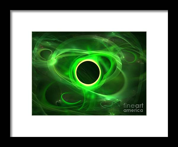 Apophysis Framed Print featuring the digital art Evergreen by Kim Sy Ok
