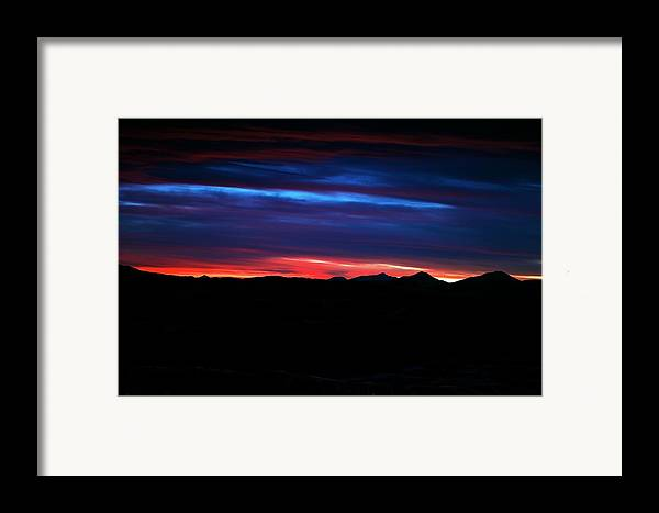 Sunset Framed Print featuring the photograph Evil Blue Sky by Kevin Bone