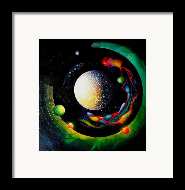 Microcosm Framed Print featuring the painting Exit by Drazen Pavlovic