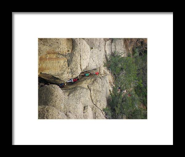 Cliff Palace Framed Print featuring the photograph Exiting Cliff Palace by FeVa Fotos