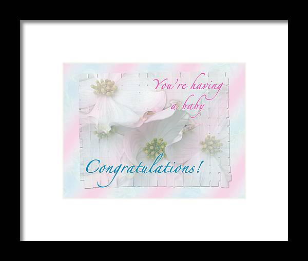 congratulations framed print featuring the photograph expecting baby congratulations card by mother nature