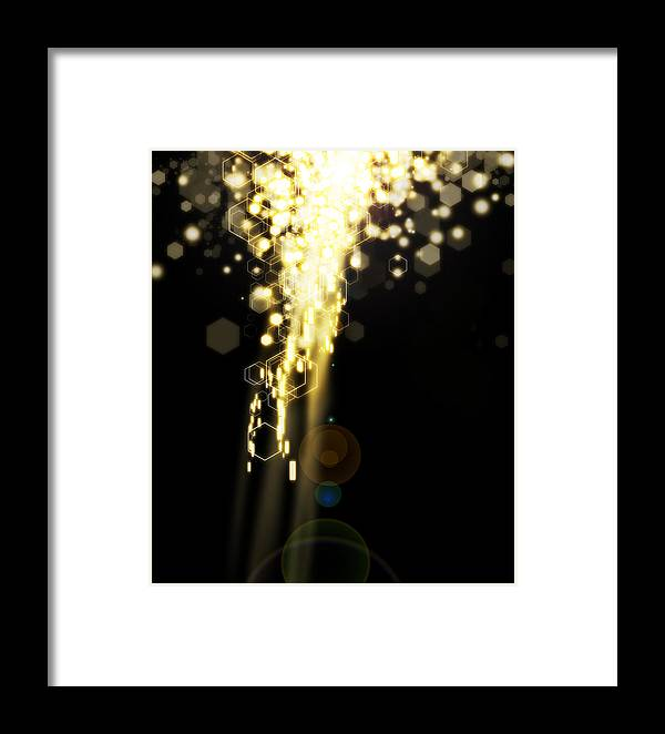 Abstract Framed Print featuring the photograph Explosion Of Lights by Setsiri Silapasuwanchai