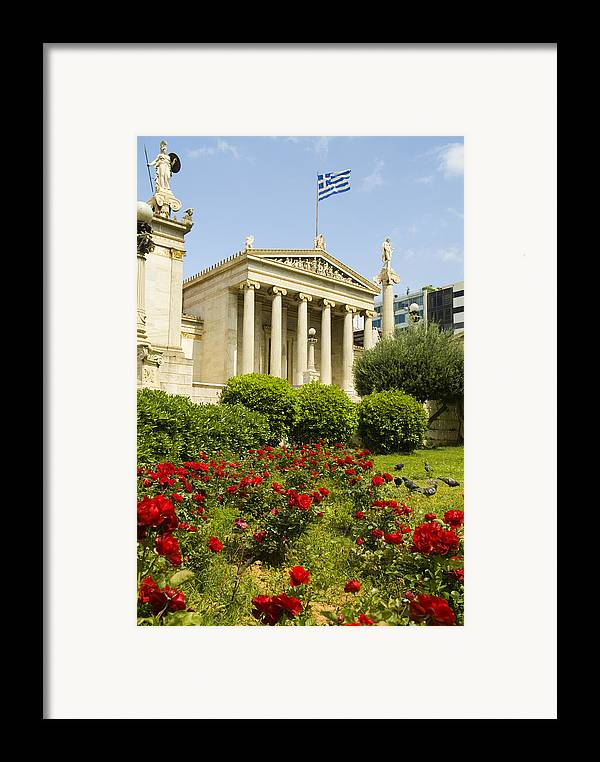 Europe Framed Print featuring the photograph Exterior Of The Athens Academy, Greece by Richard Nowitz