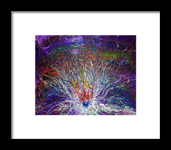 Abstract Art Framed Print featuring the painting Eye Eruption by Pretchill Smith