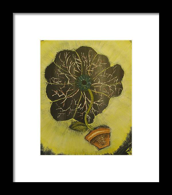 Eye Framed Print featuring the painting Eye Flower by Terrence McLean
