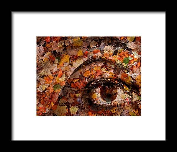 Eye Framed Print featuring the photograph Eye Of Autumn by Joe Bonita