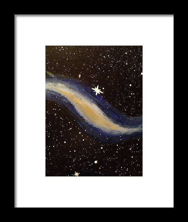 Space Framed Print featuring the painting Eye Of The Beholder by Jonathan Fussell
