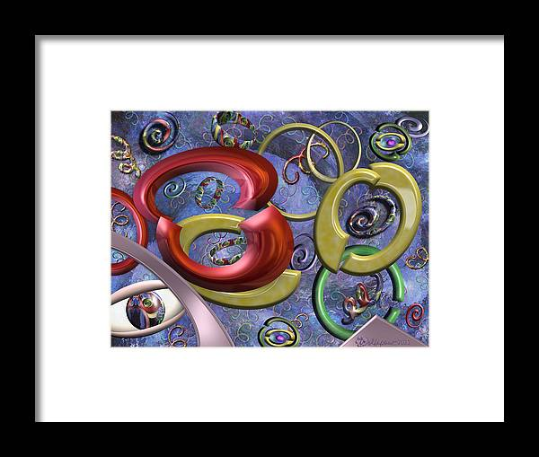 Abstract Framed Print featuring the digital art Eye of the Beholder by Peggi Wolfe