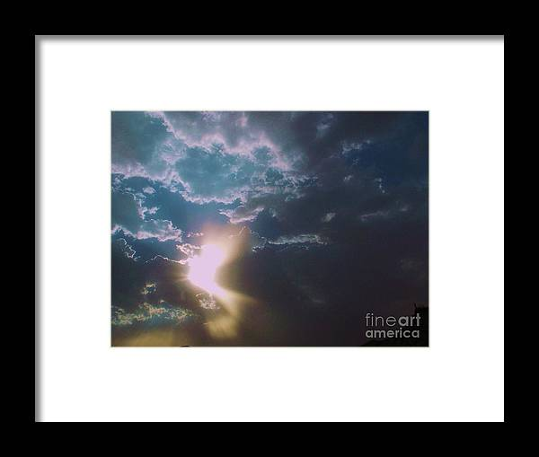 Framed Print featuring the photograph Eye Of The Storm 2 by Vicki Lomay