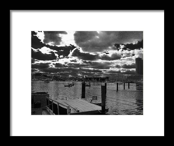 Clouds Framed Print featuring the photograph Eye Over Baltimore Part 2 by Andrew Funk