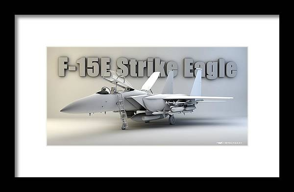 F-15e Strike Eagle Framed Print featuring the digital art F-15e Strike Eagle by Dale Jackson