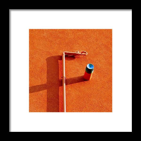 Decorative Framed Print featuring the photograph F Stop #detail #shadow #italy by A Rey