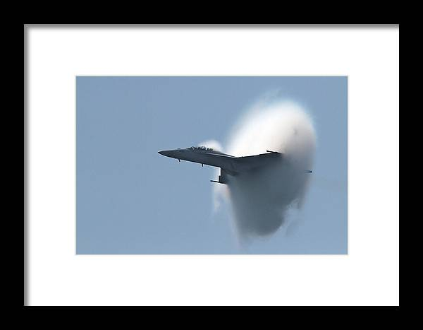 Fighter Jet Framed Print featuring the photograph F18 by Edward Betz