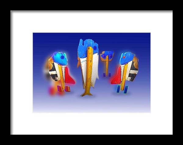 Fab Framed Print featuring the painting Fab Four by Charles Stuart
