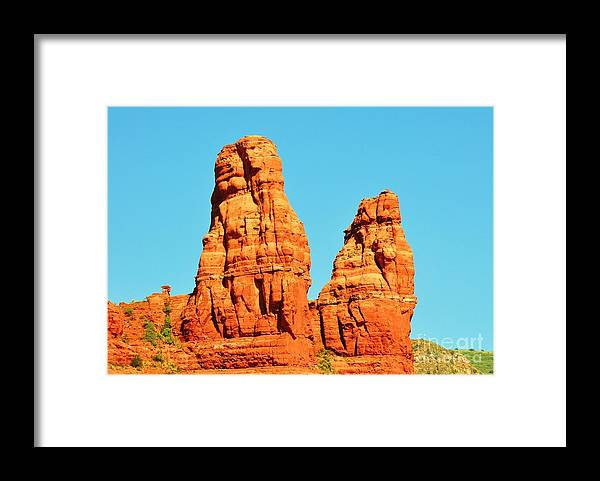 Sedona Framed Print featuring the photograph Faces In The Red Rock Towers by George Sylvia