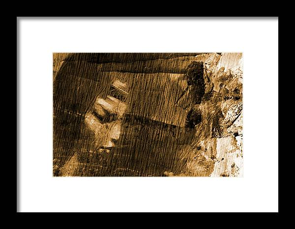 Face Framed Print featuring the digital art Facing Tomorrow by Andrea Barbieri