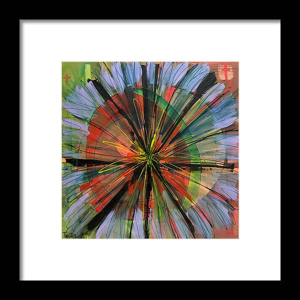 Abstract Framed Print featuring the painting Faith by Lynne Taetzsch