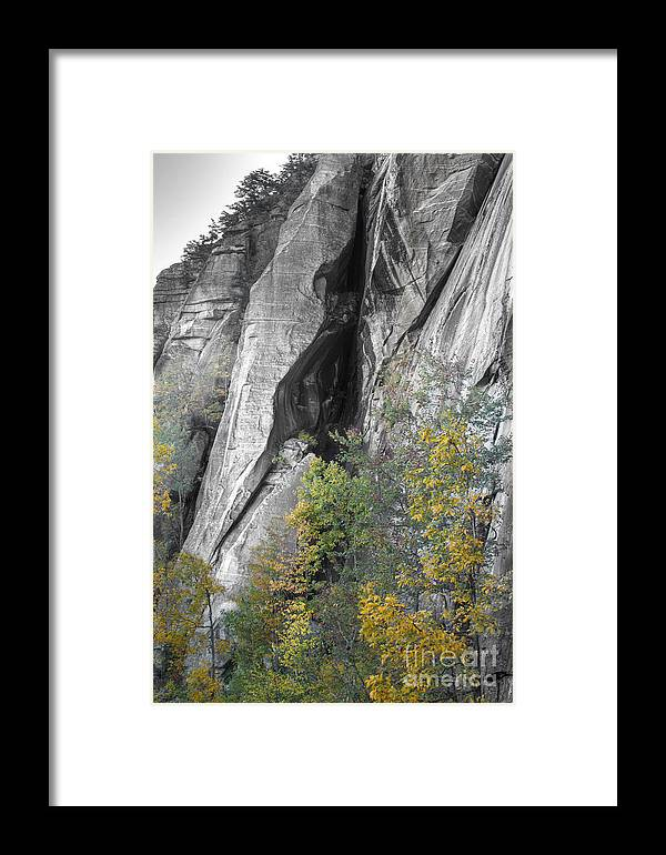 Fall Colors Chimney Rock State Park Framed Print featuring the photograph Fall Colors Chimney Rock State Park by Dustin K Ryan