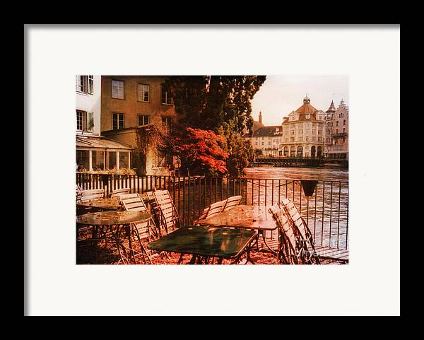 Lucerne Framed Print featuring the photograph Fall In Lucerne Switzerland by Susanne Van Hulst