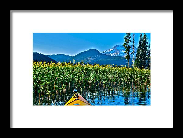 Sparks Lake Framed Print featuring the photograph Fall Is Coming by Dorota Nowak