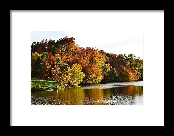 Gahn Wildlife Refuge Pond Framed Print featuring the photograph Fall On The Pond by Kim Hymes