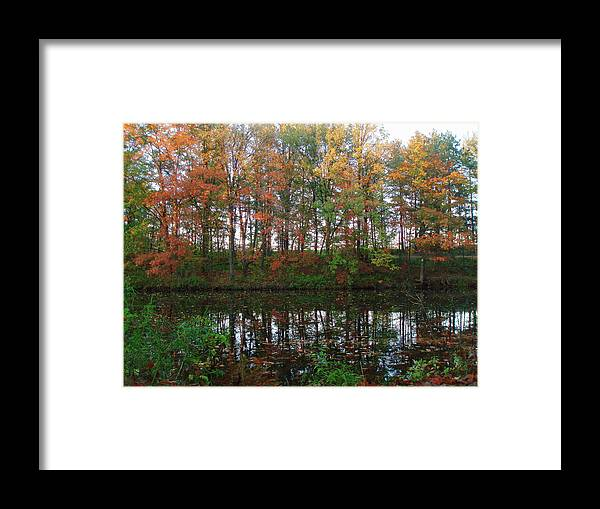 Fall Framed Print featuring the photograph Fall Reflections by Mike Stouffer