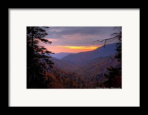 Sunset Framed Print featuring the photograph Fall Sunset by Charles Warren
