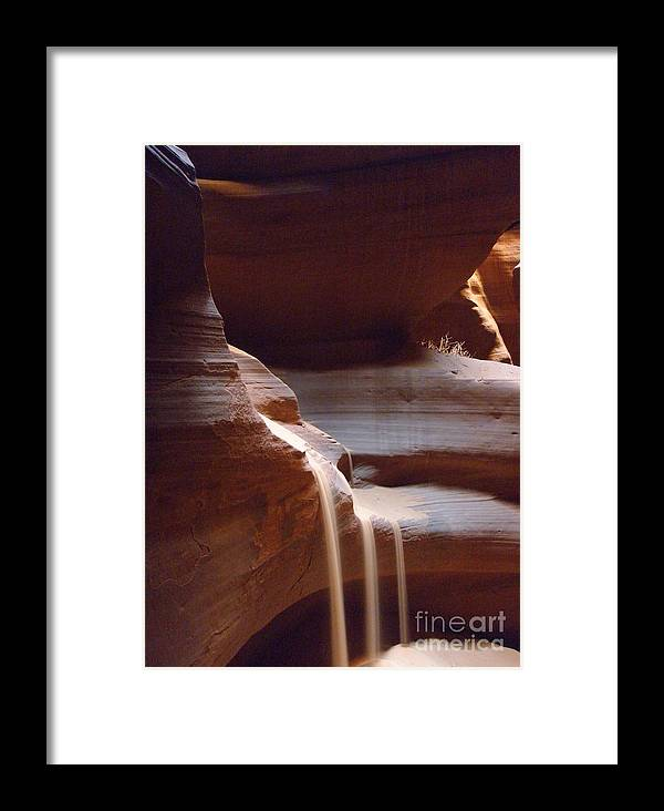 Cave Framed Print featuring the photograph Falling Sands by Louisa Griffith