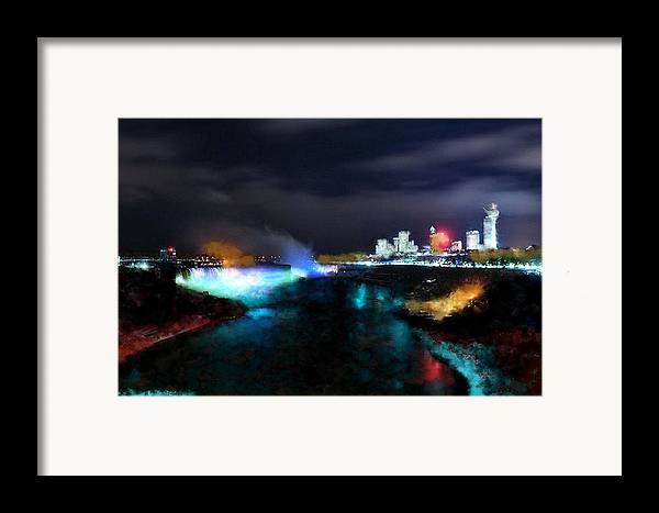 Nature Framed Print featuring the digital art Falls by Ilias Athanasopoulos