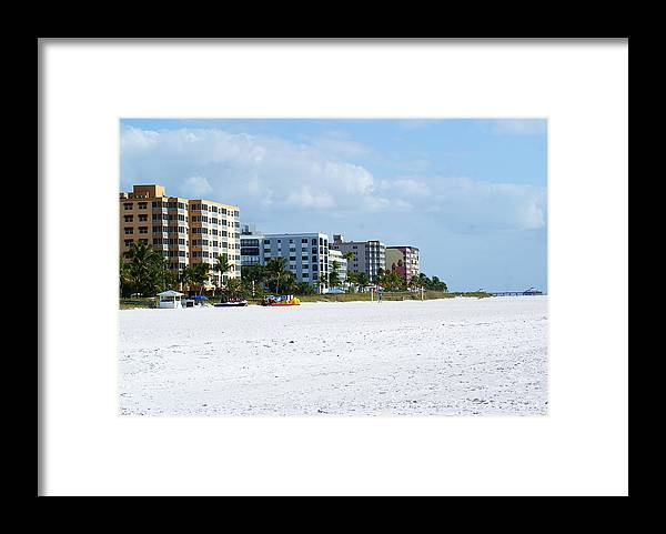 Landscape Framed Print featuring the photograph Famous ft. Myers Beach by Florene Welebny
