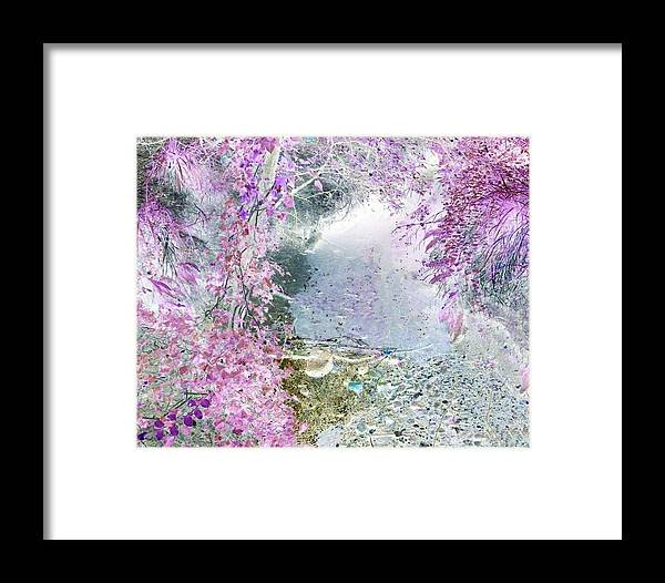 Woods Framed Print featuring the photograph Fantasy Woodland Pond by Sharon Lisa Clarke