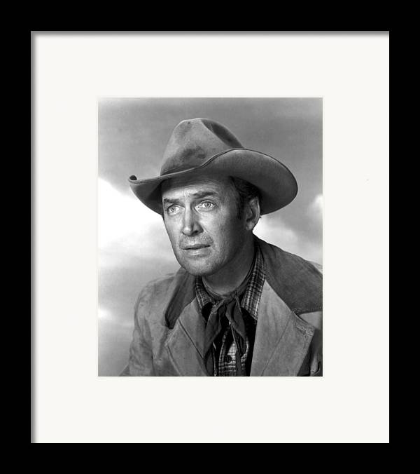 1930s Portraits Framed Print featuring the photograph Far Country, The, James Stewart, 1955 by Everett