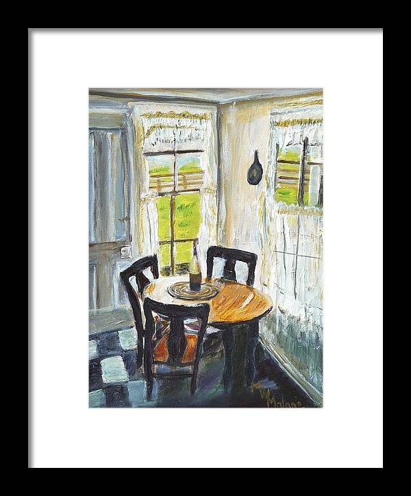 Farm Framed Print featuring the painting Farm House Kitchen by Mark Malone