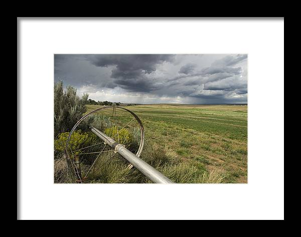 Nobody Framed Print featuring the photograph Farm Irrigation Sprinklers Next by Bill Hatcher