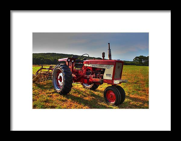 Andrew Pacheco Framed Print featuring the photograph Farmall Tractor In The Sunlight by Andrew Pacheco
