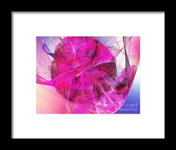Fine Art Framed Print featuring the digital art Fascination by Andee Design
