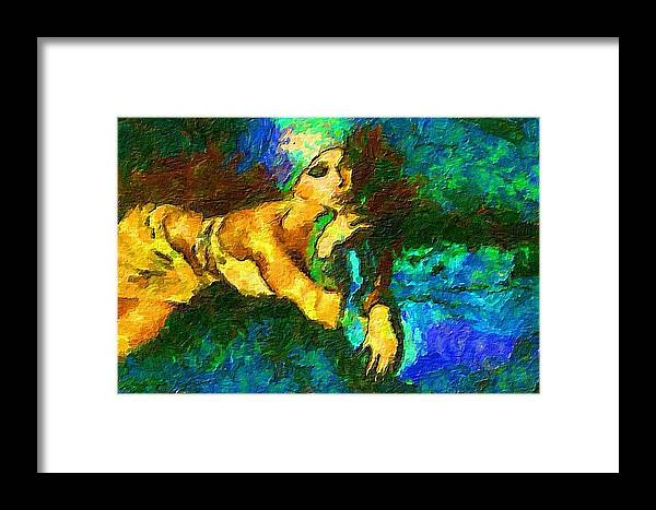 Fashion Framed Print featuring the painting Fashion 1 by Jacques Silberstein
