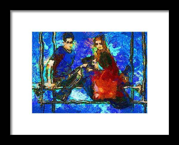 Impressionist Fashion Painting Framed Print featuring the painting Fashion 390 by Jacques Silberstein
