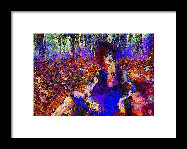 Impressionist Fashion Painting Framed Print featuring the painting Fashion 397 by Jacques Silberstein